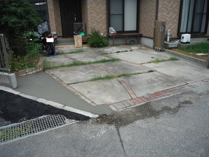 小工事 ~ 駐車場の入口を広げる2。_d0165368_04033403.jpg