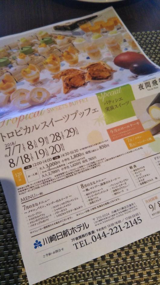 川崎日航ホテル 夜間飛行 トロピカルスイーツブッフェ_f0076001_22533699.jpg