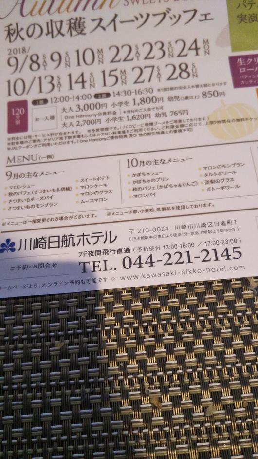 川崎日航ホテル 夜間飛行 トロピカルスイーツブッフェ_f0076001_23133798.jpg