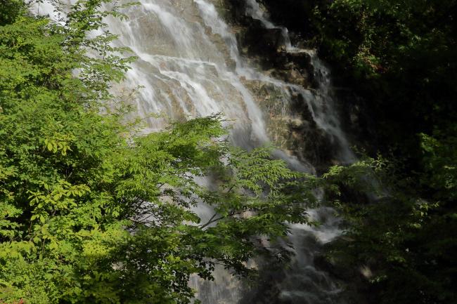 奥四万湖 しゃくなげの滝 _a0357206_21131885.jpg