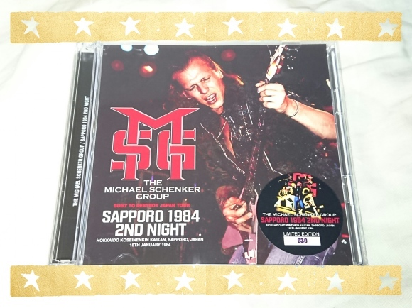 THE MICHAEL SCHENKER GROUP / SAPPORO 1984 2ND NIGHT_b0042308_10554304.jpg