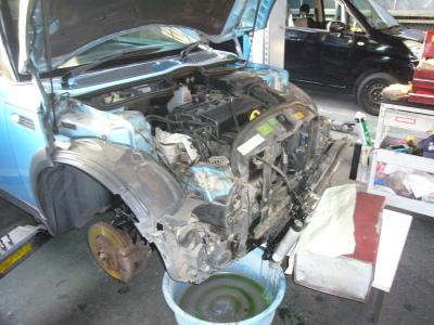 BMWミニ (R50)クーリングファン回らない 修理(レジスター交換)_c0267693_13351786.jpg