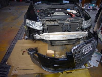 アウディ A6オールロード 車高が上がらない修理 (エアサスペンションポンプ交換)_c0267693_16431409.jpg