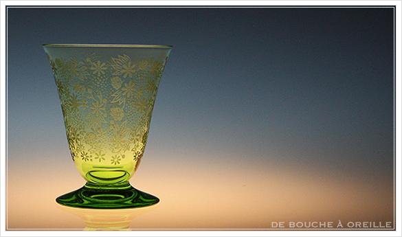 """バカラ エリザベート グリーン Baccarat \""""Elisabeth\"""" green アンティーク オールド バカラ_d0184921_11415453.jpg"""
