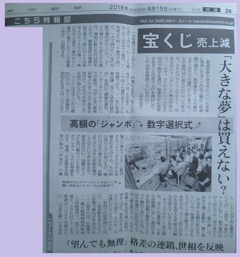 東京新聞にコメントを載せていただきました_f0070359_2041675.jpg
