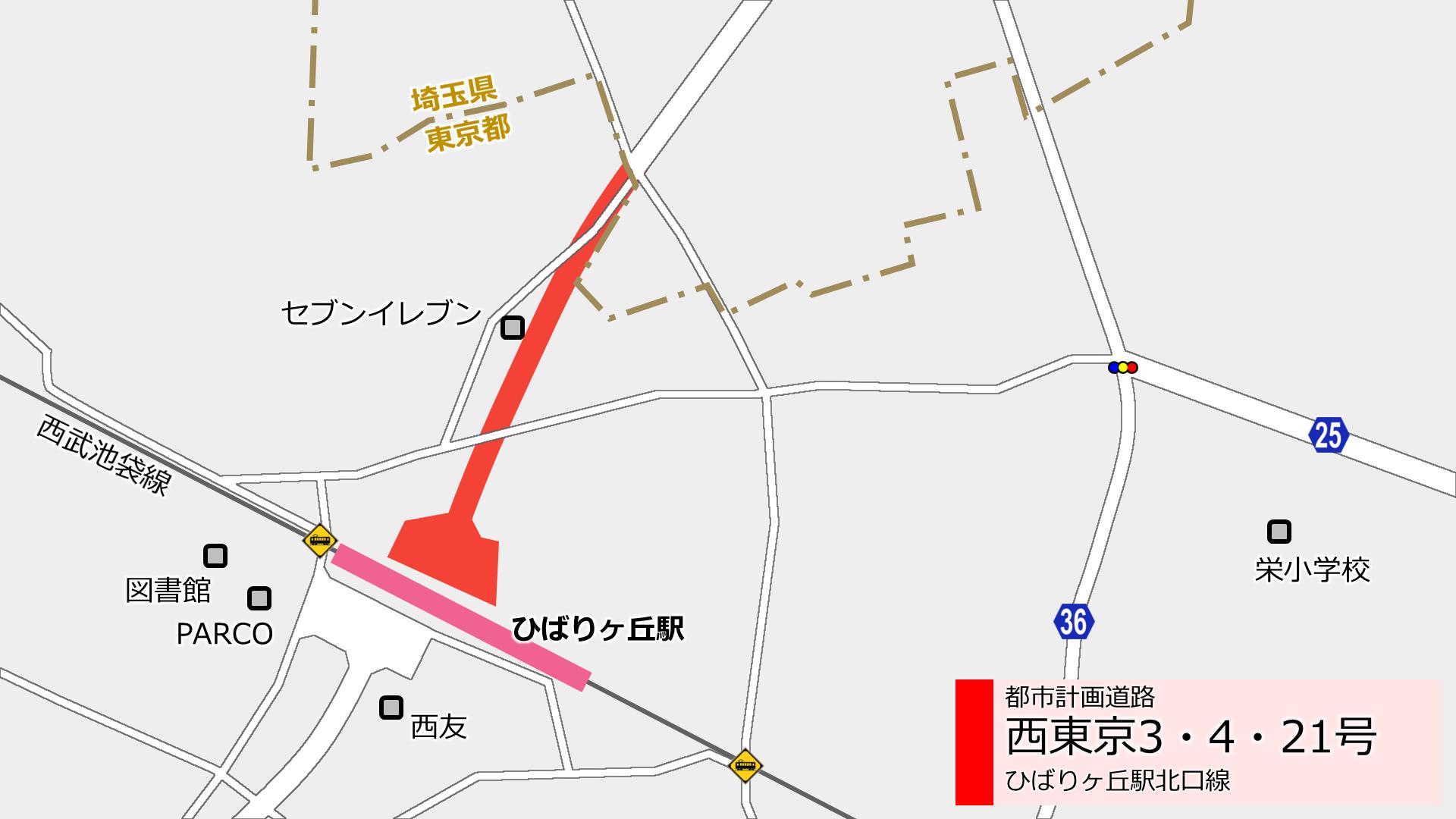 ひばりヶ丘駅北口の新しい道路 西東京3・4・21号 進捗状況2018.8_a0332275_18441938.png