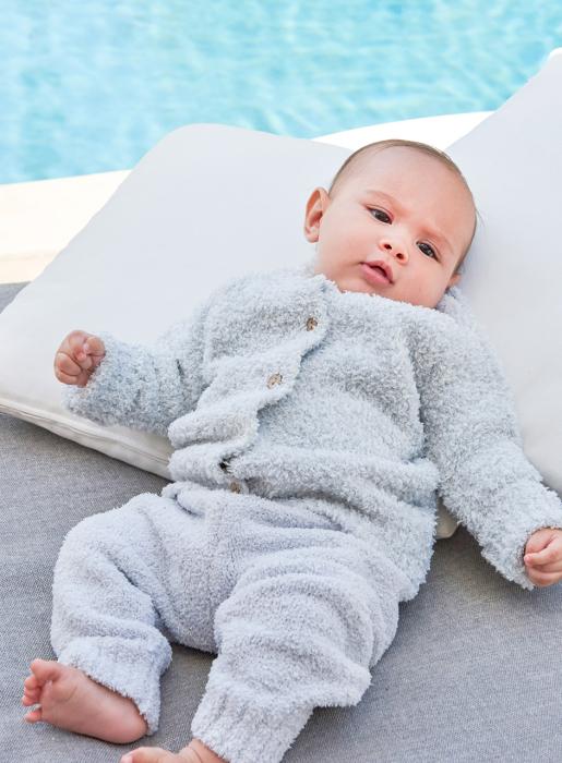 BAREFOOT DREAMS INFANT HEATHERED CARDIGAN_f0111683_15204234.jpg