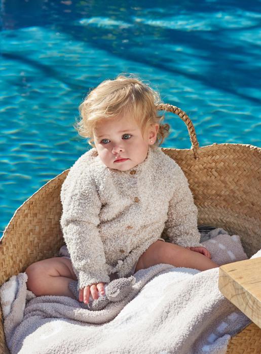BAREFOOT DREAMS INFANT HEATHERED CARDIGAN_f0111683_15204617.jpg