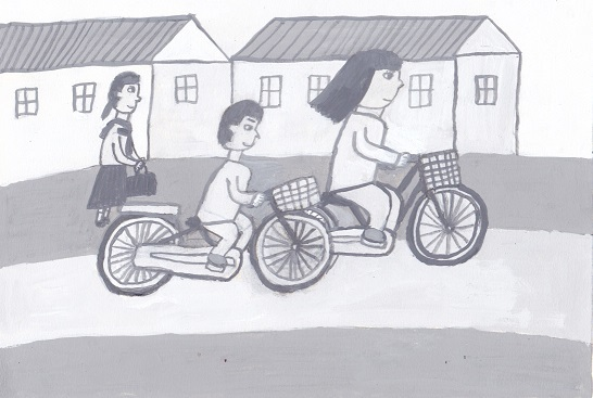 「自転車の親子」_d0259392_03095372.jpg