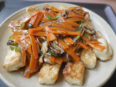 豆腐の野菜あんかけ_d0020309_11153457.jpg