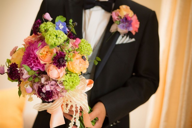 卒花嫁様アルバム パレスホテルの花嫁様より あでやかに 手にするほど好きになるブーケ_a0042928_12413017.jpg
