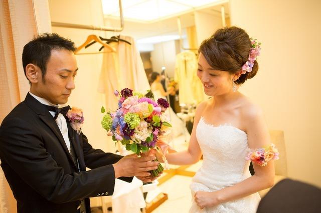 卒花嫁様アルバム パレスホテルの花嫁様より あでやかに 手にするほど好きになるブーケ_a0042928_12413091.jpg