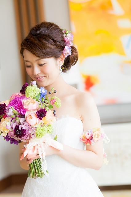 卒花嫁様アルバム パレスホテルの花嫁様より あでやかに 手にするほど好きになるブーケ_a0042928_12413531.jpg