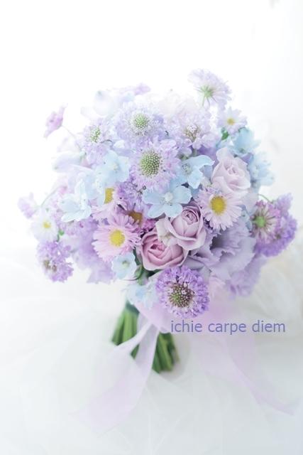 クラッチブーケ FEU様へ 淡いあわい紫と、水色_a0042928_20001144.jpg