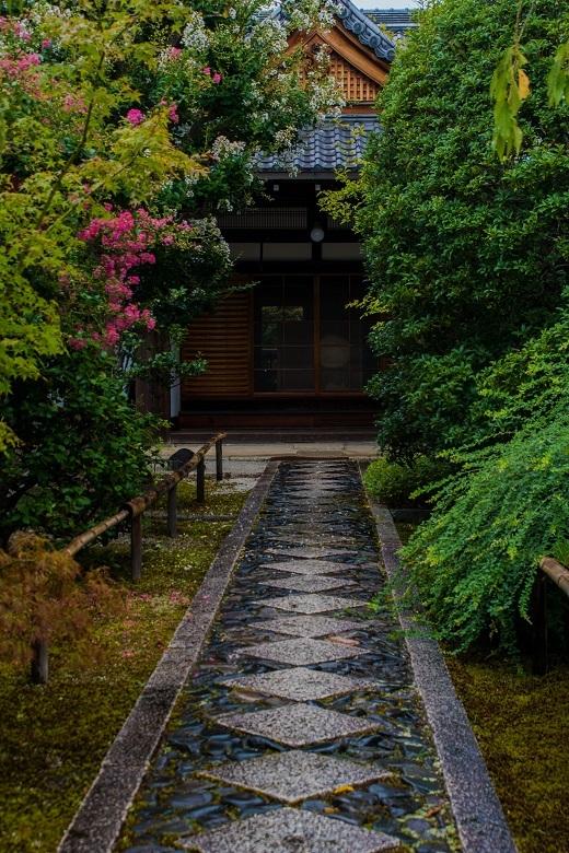 天寧寺~百日紅と額縁の門_e0363038_19291275.jpg
