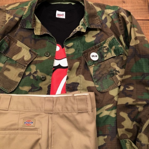 "Late 1960s "" U.S.M.C \"" - STENCIL付 - ERDL CAMO JUNGLE FATIGUE JACKET ._d0172088_20291546.jpg"