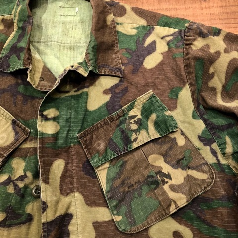 "Late 1960s "" U.S.M.C \"" - STENCIL付 - ERDL CAMO JUNGLE FATIGUE JACKET ._d0172088_20320394.jpg"