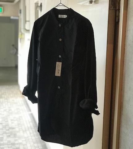 sans limiteのバンドカラーシャツ_d0364239_21575175.jpg