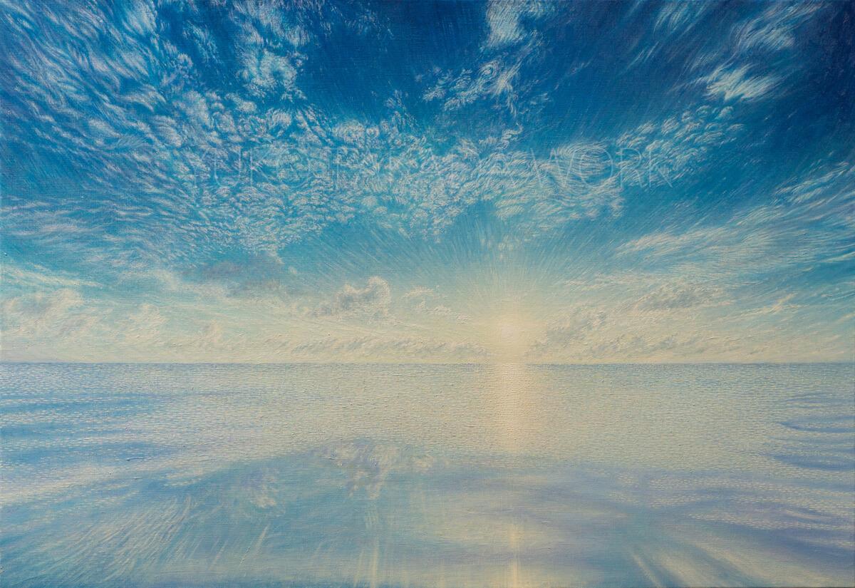 夏の空と海とひかりを描いた作品、完成しました!_b0240382_21070036.jpg