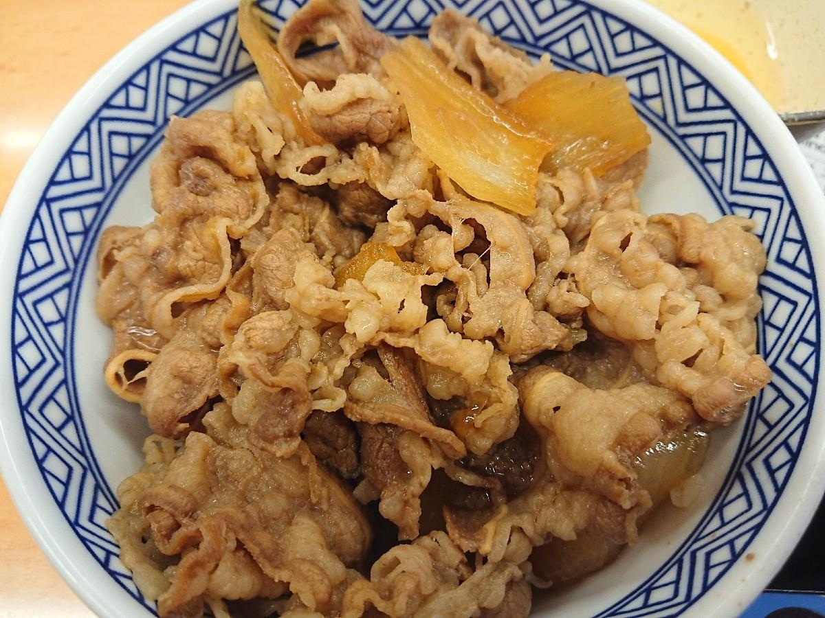 8/24  牛丼並つゆだく & 玉子 & 味噌汁 ¥500 with 生ビール ¥300_b0042308_14010103.jpg
