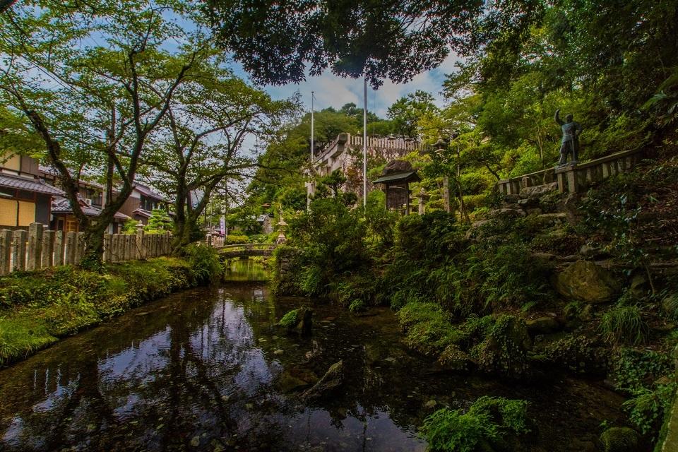 醒ヶ井宿 地蔵川に咲く梅花藻_e0363038_14183381.jpg