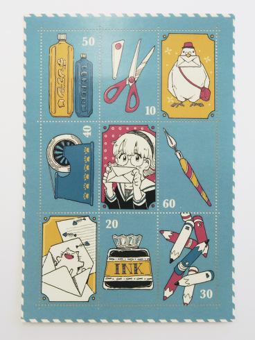 【切手風目打ちシール】レトロで可愛い切手風目打ちシール_d0095746_11295874.jpg