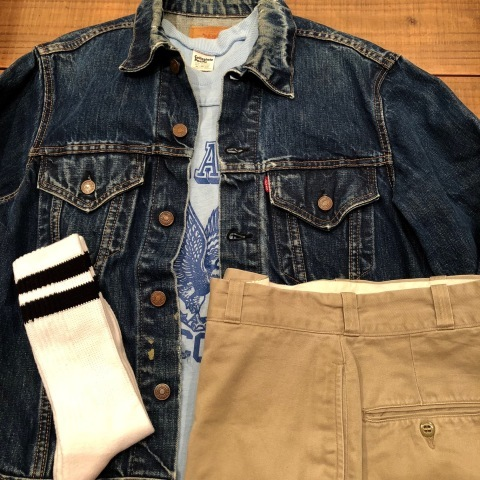 "Late 1960s "" LEVI\'S \"" - 70505 BIG E - VINTAGE DENIM TRUCKER JACKET ._d0172088_21442392.jpg"
