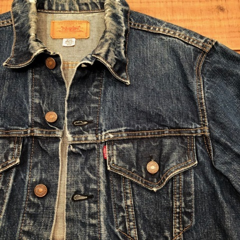 "Late 1960s "" LEVI\'S \"" - 70505 BIG E - VINTAGE DENIM TRUCKER JACKET ._d0172088_21480361.jpg"