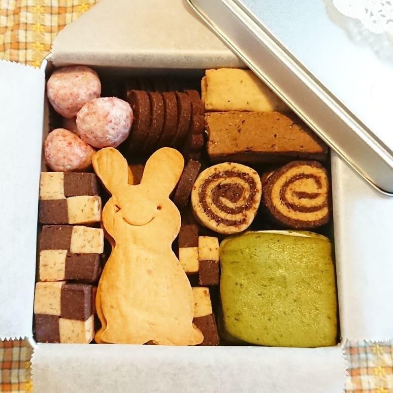 米粉のクッキー缶作り🎵_a0113430_07295257.jpg