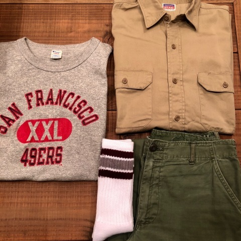 "1950s "" BIG MAC - PENNEY\'S - \"" 100% cotton VINTAGE - マチ付き - CHINOS WORK SHIRTS ._d0172088_21284118.jpg"