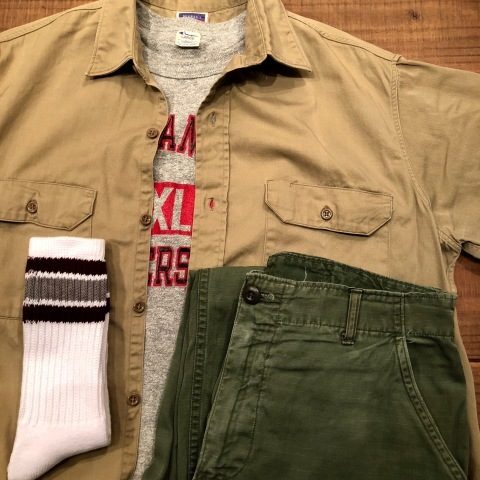 "1950s "" BIG MAC - PENNEY\'S - \"" 100% cotton VINTAGE - マチ付き - CHINOS WORK SHIRTS ._d0172088_21291541.jpg"
