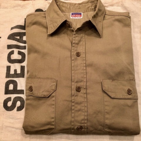 "1950s "" BIG MAC - PENNEY\'S - \"" 100% cotton VINTAGE - マチ付き - CHINOS WORK SHIRTS ._d0172088_21295231.jpg"
