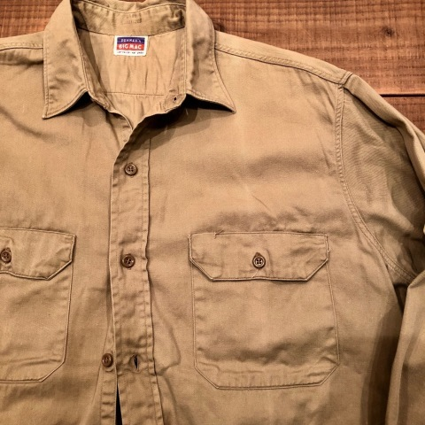 "1950s "" BIG MAC - PENNEY\'S - \"" 100% cotton VINTAGE - マチ付き - CHINOS WORK SHIRTS ._d0172088_21305678.jpg"