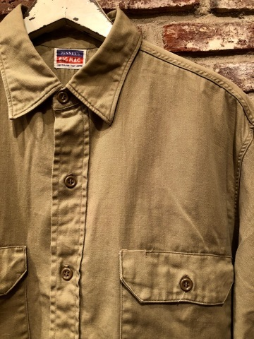 "1950s "" BIG MAC - PENNEY\'S - \"" 100% cotton VINTAGE - マチ付き - CHINOS WORK SHIRTS ._d0172088_21324705.jpg"