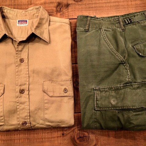 "1950s "" BIG MAC - PENNEY\'S - \"" 100% cotton VINTAGE - マチ付き - CHINOS WORK SHIRTS ._d0172088_21371939.jpg"