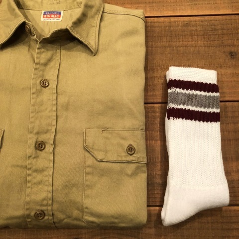 "1950s "" BIG MAC - PENNEY\'S - \"" 100% cotton VINTAGE - マチ付き - CHINOS WORK SHIRTS ._d0172088_21424287.jpg"
