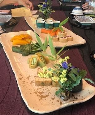夏の着物で、お客様と普茶料理の閑臥庵 (かんがあん)へ_f0181251_1359247.jpg