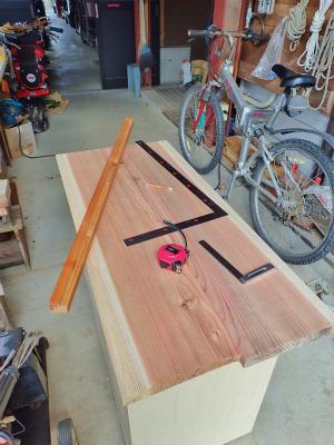 収納テーブルの製作(完成)_c0336902_19521671.jpg