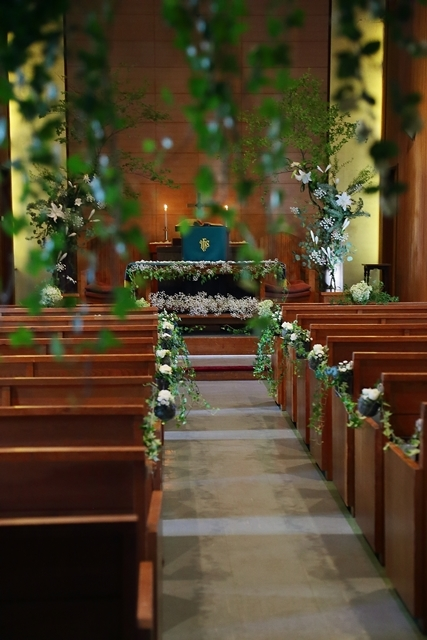 代官山の教会装花 本多記念教会様へ 一会夏の出張レッスン8月25日_a0042928_19201648.jpg