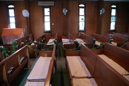 代官山の教会装花 本多記念教会様へ 一会夏の出張レッスン8月25日_a0042928_19203990.jpg