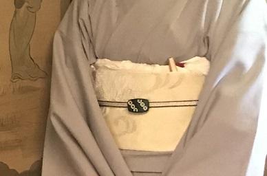 閑臥庵のお客様・西陣まいづる楽文紗帯+アンティーク簪_f0181251_1892838.jpg