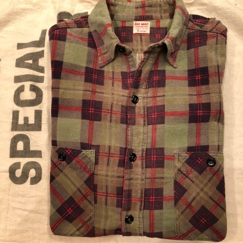 "1960s "" BIG MAC - Penney\'s - \"" 100% cotton Vintage CHECK FLANNEL SHIRTS ._d0172088_21551413.jpg"