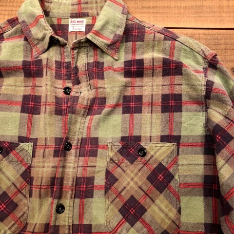 "1960s "" BIG MAC - Penney\'s - \"" 100% cotton Vintage CHECK FLANNEL SHIRTS ._d0172088_21580712.jpg"