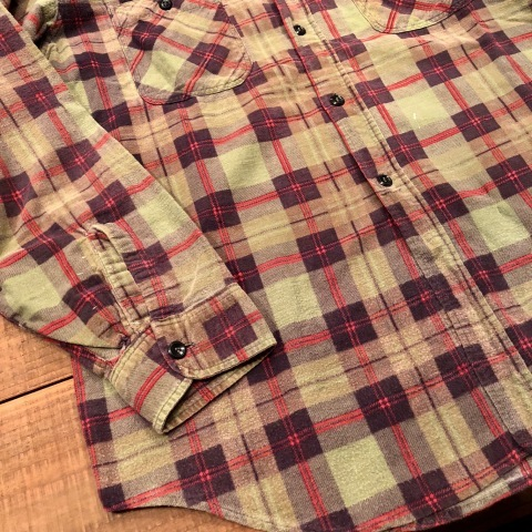 "1960s "" BIG MAC - Penney\'s - \"" 100% cotton Vintage CHECK FLANNEL SHIRTS ._d0172088_21583041.jpg"