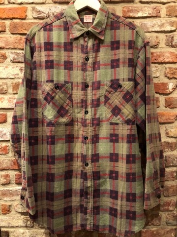 "1960s "" BIG MAC - Penney\'s - \"" 100% cotton Vintage CHECK FLANNEL SHIRTS ._d0172088_21590101.jpg"