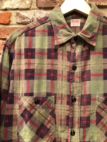 "1960s "" BIG MAC - Penney\'s - \"" 100% cotton Vintage CHECK FLANNEL SHIRTS ._d0172088_21592475.jpg"