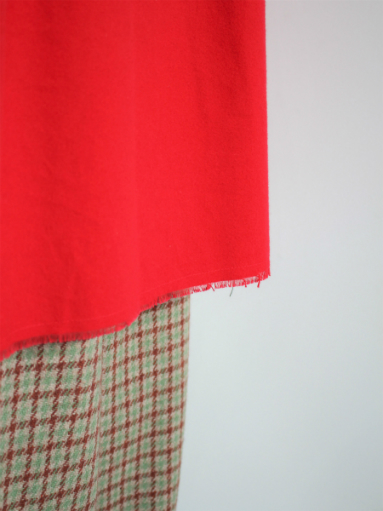 NEEDLES Pin Tuck Dress - Cotton Flannel / Red _b0139281_12352211.jpg
