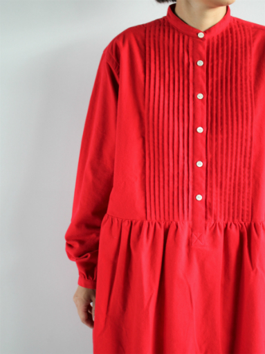 NEEDLES Pin Tuck Dress - Cotton Flannel / Red _b0139281_1235972.jpg