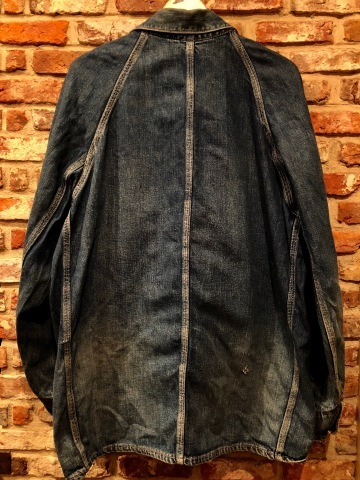"1950s "" PENNEY\'S - PAY DAY - \"" 100% cotton VINTAGE DENIM COVER ALL ._d0172088_22304120.jpg"