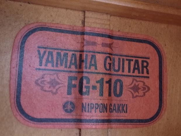 1969年YAMAHA FG-110 ヤマハ赤ラベル RED LABELフォークギター_f0197703_10445366.jpg